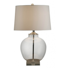 Stefano  Silver and glass urn  lamp | Table Lamps