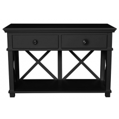 Sorrento Two Drawer Console Black  | Sideboards & Consoles | Sideboards and Consoles | Sideboards and Consoles