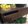 Apothecary Three Drawer Console