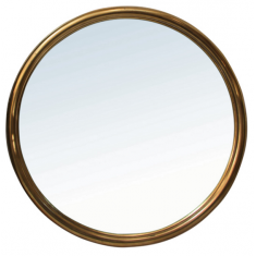 Alsace Round Bronze/Brass Mirror  | Mirrors | NEW ARRIVALS
