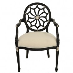 Spider Carver Chair Black & Silver | Seating | Occasional Chairs | Dining Chairs | Seating