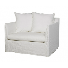 Marcella Slip Cover Arm Chair White Linen  | Occasional Chairs | Seating | Seating | Seating