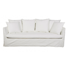 Marcella Slip Cover 3 Seat Sofa White Linen | Sofas | Seating | Seating | Seating