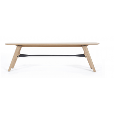 Flow Oak Bench Seat  | Benches & Ottomans | Seating | Seating | Seating