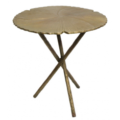 Brass Leaf Side Table  | Ocassional Tables | Tables | Tables | Tables