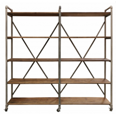Pilo Industrial Wide Shelves Mudstone  Iron  | Shelving, Storage & Cabinets | Storage, Shelving and Cabinets | Storage, Shelving and Cabinets