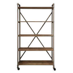 Pilo Industrial Narrow Shelves Mudstone  | Shelving, Storage & Cabinets | Storage, Shelving and Cabinets | Sideboards and Consoles