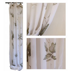 Fig Leaf Cotton Voile Curtains Set of 2  | Curtains
