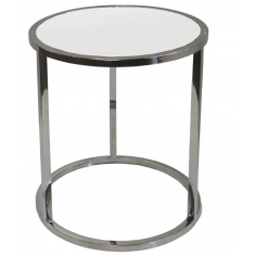 Bogart Round Stainless Side Table  | Ocassional Tables | Tables | Tables