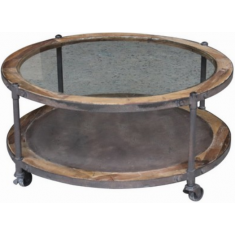 Smith Round Industrial Coffee Table  | Coffee Tables | Tables