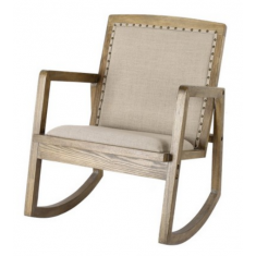 Oak & Linen Rocking Chair  | Occasional Chairs | Seating | Seating | Home