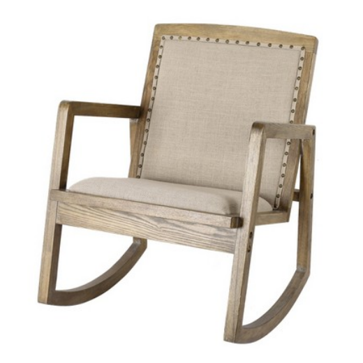 Oak & Linen Rocking Chair  | Occasional Chairs | Seating | Seating