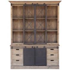 Barn Door Display Cabinet