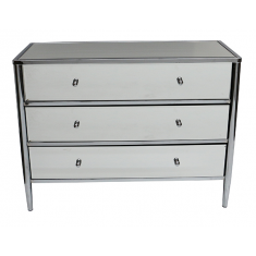 Berkley Mirrored Chest  | Drawers & Chests | Mirrored Furniture | Bedroom