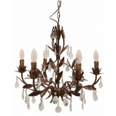 Florence Bambino Chandelier Rubbed Gold  | Chandeliers