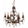 Florence Bambino Chandelier Rubbed Gold