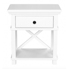 Sorrento Bedside White  | Bedside Tables | Ottomans and Chaises | Bedroom | Bedroom | Bedroom