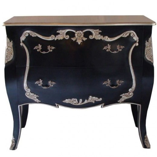 Bombay Chest Black & Silver | Chests and Desks | Chests and Desks | Chests | Drawers & Chests