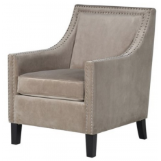 Wesley Arm Chair Taupe Velvet