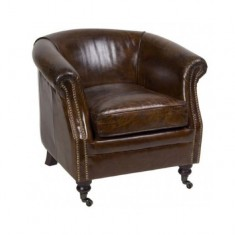 Mossberg Leather Chair | Occasional Chairs | Seating | Seating | Leather Furniture