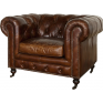 Grange  Leather Arm Chair Cigar