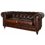 Grange Leather 2 Seater Sofa Vintage Cigar