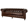 Grange Leather 3 Seater Sofa Vintage Cigar