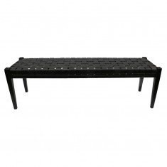 Rupert Bench Black  | Ottomans and Chaises | Seating | Seating | NEW ARRIVALS