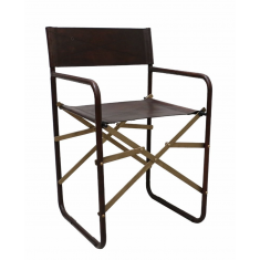 Folding Leather Directors Chair  | Occasional Chairs | Seating | NEW ARRIVALS