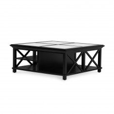 Sorrento Large Glass Coffee Table Black | Coffee Tables | Tables