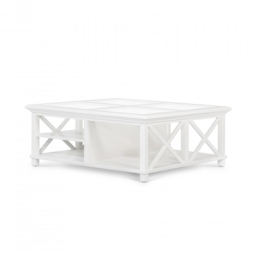 Sorrento Large Glass Coffee Table White Coffee Tables Tables Ido Interior Design Online