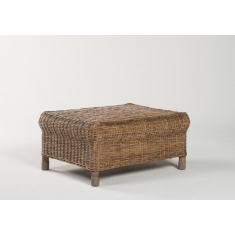 Gable Rattan Ottoman Pepper | Ottomans and Chaises | Seating | NEW ARRIVALS