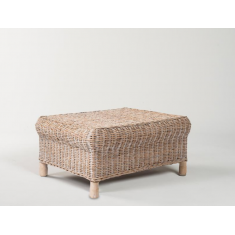 Gable Rattan Ottoman Whitewash | Ottomans and Chaises | Seating | NEW ARRIVALS