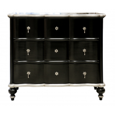 Ripple Chest Black & Silver | Chests and Desks | Chests | Drawers & Chests