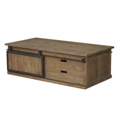Sliding Door Pine Coffee Table  | Coffee Tables | Tables | Tables