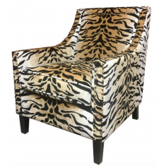 Chalet Tiger Velvet Chair  | Occasional Chairs | Seating | Seating