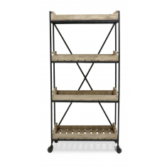 Chandri Industrial Metal Bookshelf | Shelving, Storage & Cabinets | Storage, Shelving and Cabinets | NEW ARRIVALS