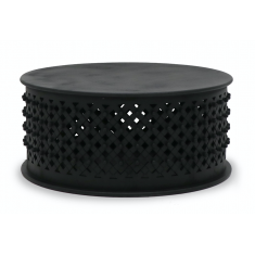 Bamileke Coffee Table Aged Black | Coffee Tables | Tables