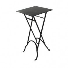 Iron Folding Table Square Black | Ocassional Tables | Tables | Bedroom | Tables