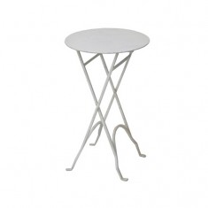 Iron Folding Table Round Cream | Tables | Bedroom | Ocassional Tables | Bedroom | Tables