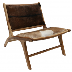 London Lazy Chair - Brown Hide | Occasional Chairs | Seating | Seating | NEW ARRIVALS