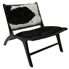 London Lazy Chair - Black Hide | Occasional Chairs | Seating | Seating | NEW ARRIVALS