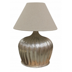 Urn lamp with ridges antique silver