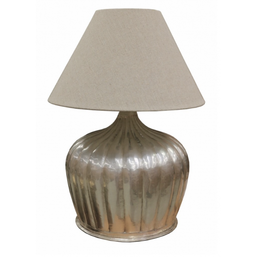 Urn lamp with ridges antique silver | Table Lamps