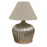 URN LAMP WITH RIDGES IN ANTIQUE SILVER FINISH
