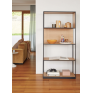 Linear Oak Shelf High Single - Natural Black