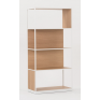 Linear Oak Shelf High Single - Natural White