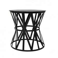 Drum Table Black Iron  Large | Ocassional Tables | Tables | Tables