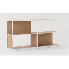 Linear Adjustable Low Oak Shelf - Natural White | Shelving, Storage & Cabinets | Storage, Shelving and Cabinets | Shelving & Cabinets