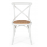 Cross Back Dining Chair White/Natural
